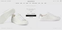 US Men's size 9.5 Gucci Interlocking G Ace Sneaker - Custom Order - Invoice 1 of 1
