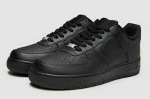 US Men's size 11.5 Black Nike AF1 Low - fish_and_frenchie - Custom Order - Invoice 1 of 2