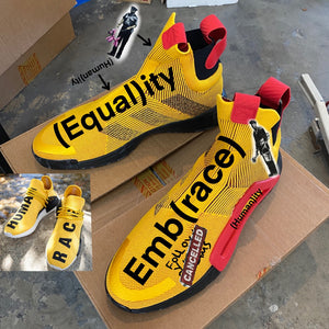 Custom Painted Adidas (Equal)its + Emb(race) Theme - Custom Order
