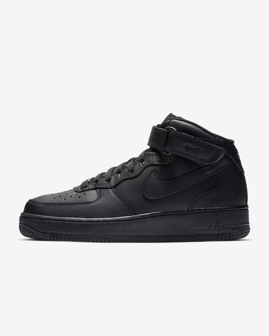 Black AF1 Mid - Mens 8.5 - Custom Order - Invoice 1 of 2
