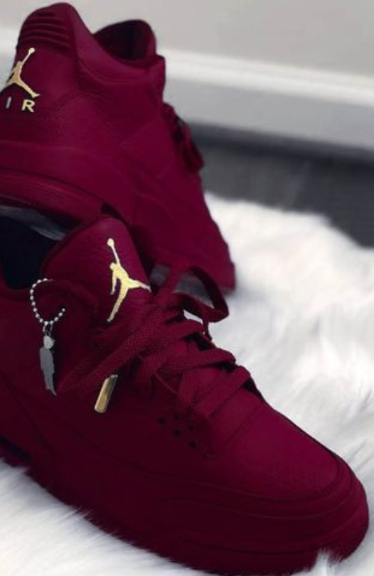 Jordan retro 3 burgundy - Custom Order - Invoice 1 of 2