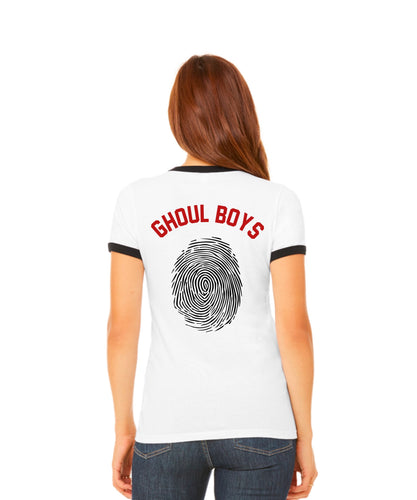 Ghoul Boys Women's Ringer Tee Jersey