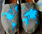 World Map TOMS shoes