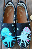 Black Classic Octopus in Love TOMS shoes