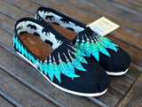 Black Canvas Moccasin TOMS - B Street Shoes