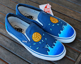 Custom Water Polo Vans shoes - B Street Shoes