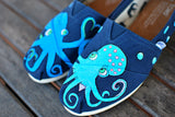 Navy Octopus in Love TOMS shoes