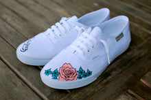 Custom Wedding Vans with your name, wedding date and flowers of your choice