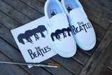 Custom hand painted Beatles Slip-on Vans