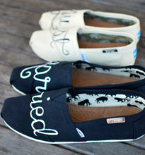 Hand Painted Just Married Toms shoes