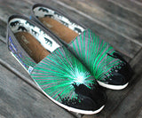 DJ Party Rave Toms - Hand Painted Music Festival shoes
