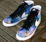 Custom Hand-Painted Nike Blazer Mid Galaxy Sneakers