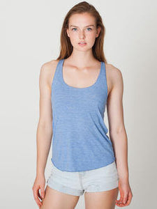 Womens B Street American Apparel Tri-Blend Racerback Tank Top XS S M L Athletic Grey