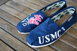 USMC LOVE Marines theme Navy Toms Canvas Classics