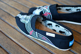 Hand Painted Music Theme Black Canvas Classic Toms - customizable