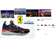 US Men's size 12 Kobe AD - San Francisco Theme - Custom Order