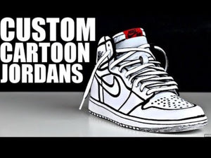US Men s size 11.5 Jordan 1 Yin Yang - Cartoon - Custom Order – B Street  Shoes b17ee2302