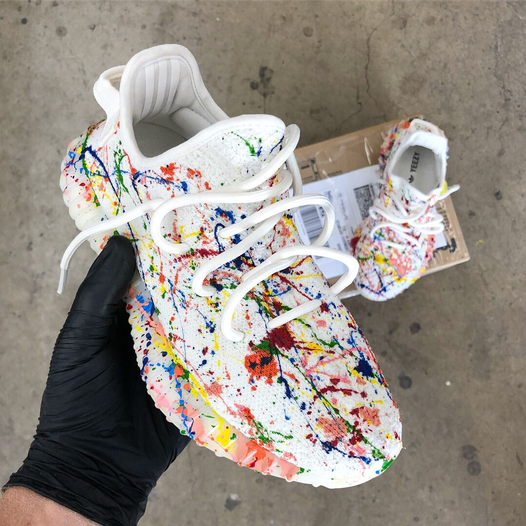6c0160218375c ... US Men s size 11 Yeezy Boost 350 V2 Cream White - Jackson Pollock  Spatter Art ...