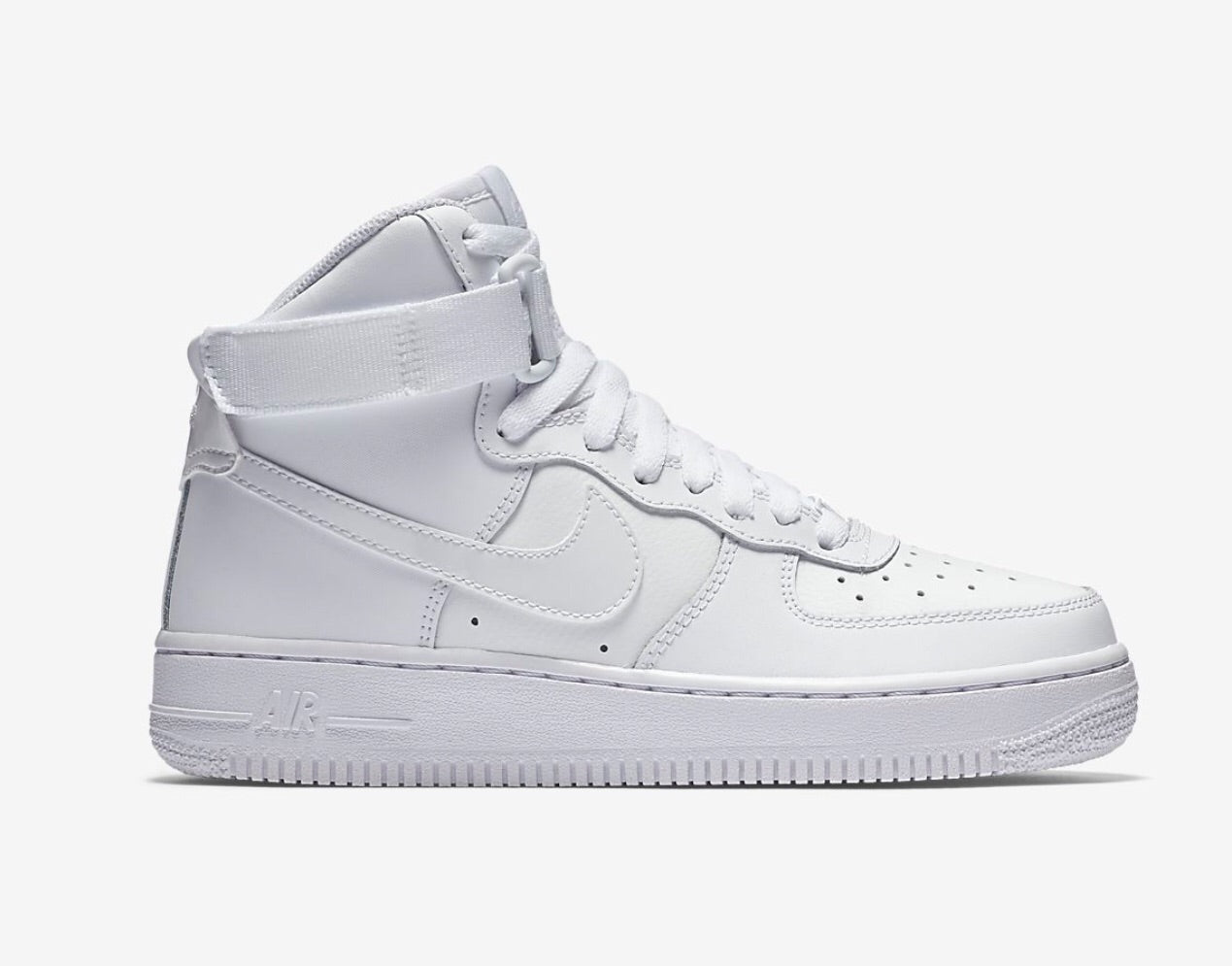 premium selection 33d25 b1a21 US Women's size 7 (Men's 5.5) White Nike AF1 High - Fern ...