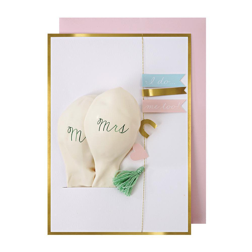 Tassel and Balloon Card Wedding