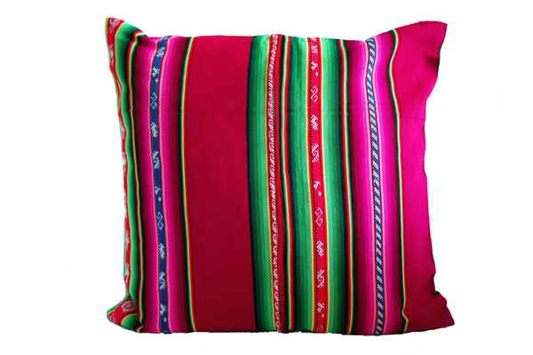 Magenta/Pink Bolivian Pillow Cover