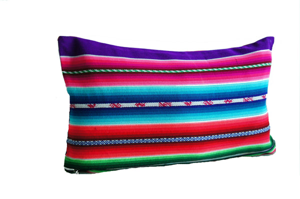 Bolivian purple souk pillow cover
