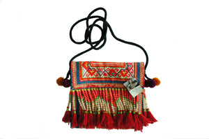 Red Tassel Hmong Bag