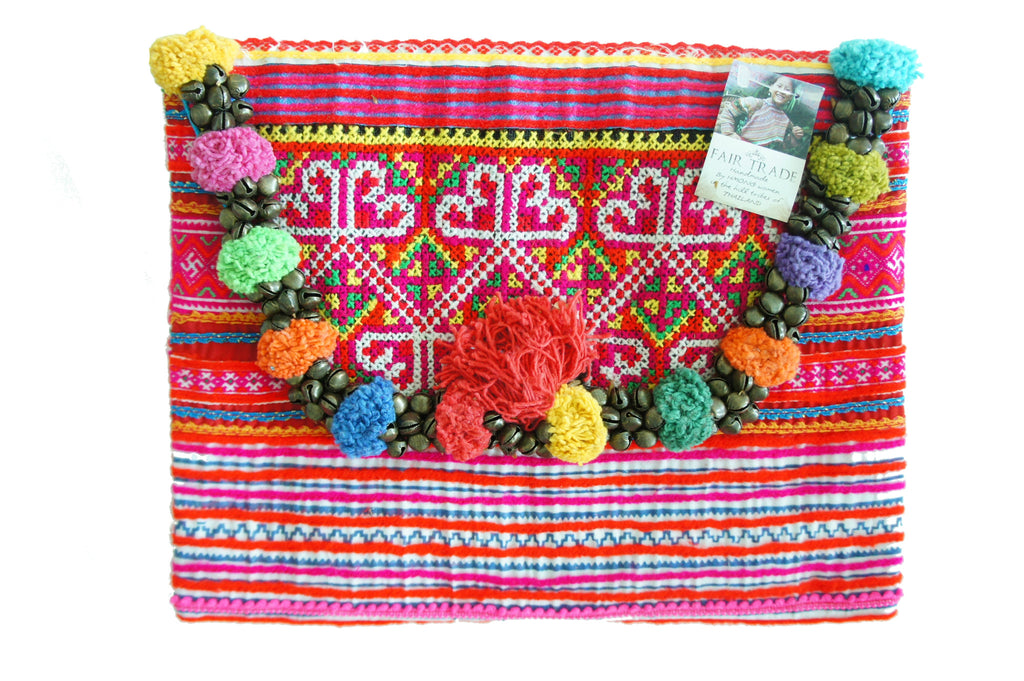 California dream Pom Poms clutch