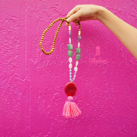 Pink Agate California Necklace