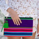 Green tassel Aguayo bag