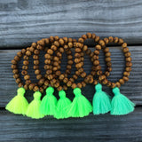 Tassel Bracelet - Wood - Arm Party