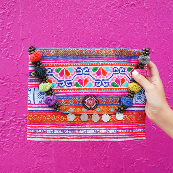 - Boho Stripe Clutch