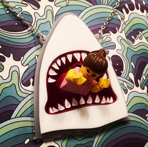 Shark attack (Jaws!) brooch