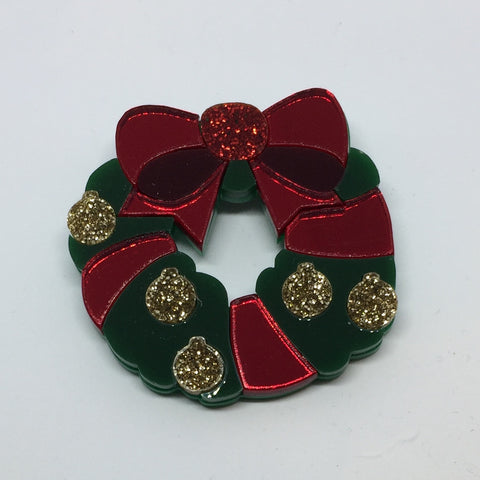 Christmas Wreath brooch