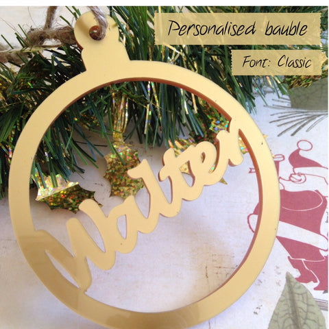 Personalised tree decoration