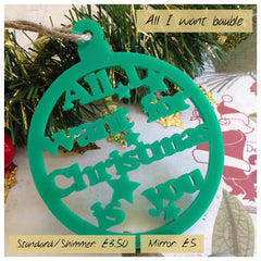 Christmas phrase decorations