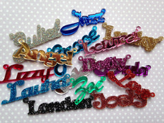 Name necklace, gold-plated (special colour)