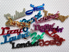 Name necklace, silver-plated (special colour)