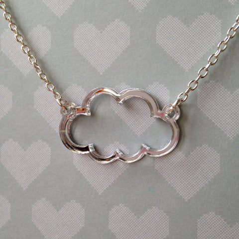 """Every cloud has a silver lining"" necklace"