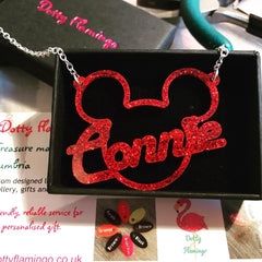 Mouse ears personalised necklace