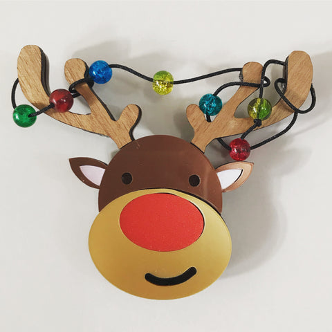 Tangled Rudolph Brooch