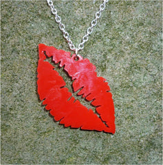 Lipstick kiss necklace