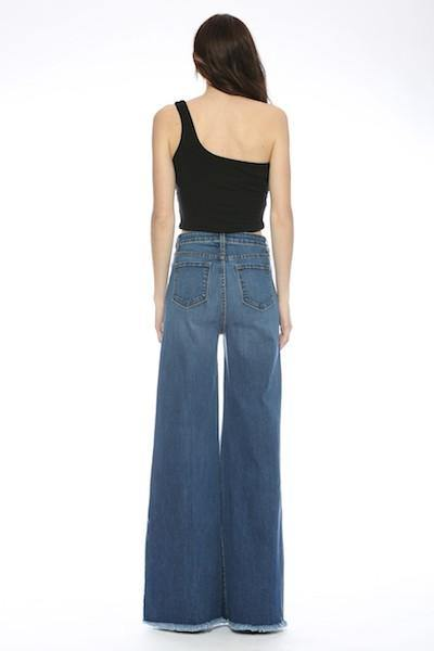 Front Seam Detail, High Waist, Flare Leg Raw Edge - Classy Cozy Cool - Pants -  O2 DENIM - BoHo, Clothes, Featured, Flare, High Rise, High Waist, Jeans, made in usa, Raw Edge, Retro, Spring, Summer, Wardrobe Essentials, Women's Clothing