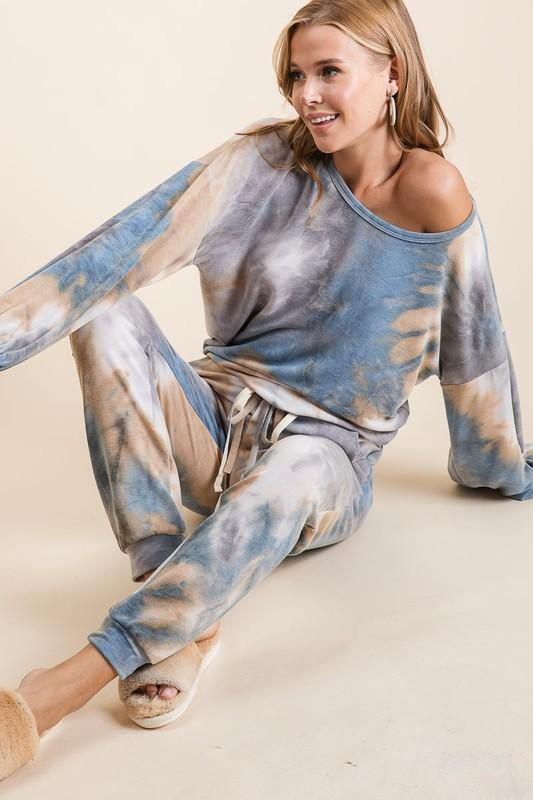 Tie Dye French Terry Lounge 2 Piece Jogger Suit