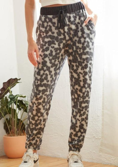 Super Soft Animal Print Lounge Joggers -  CY - Animal Print, Bottoms, Clothes, Featured, Lounge, Loungewear, made in usa, matching sets, Pants, soft, Women, Women's Clothing - Classy Cozy Cool