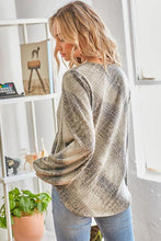 Load image into Gallery viewer, Premium Snake Print Wrap Detail Top - Made in USA