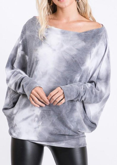 Premium Quality Hacci Top with Dolman Sleeves -  Hemish - Blouse, Clothes, Dolman Sleeve, Featured, Hacci Top, Lounge, Loungewear, made in usa, oversized, Plus, Shirt, soft, Spring, tie dye, Women - Classy Cozy Cool