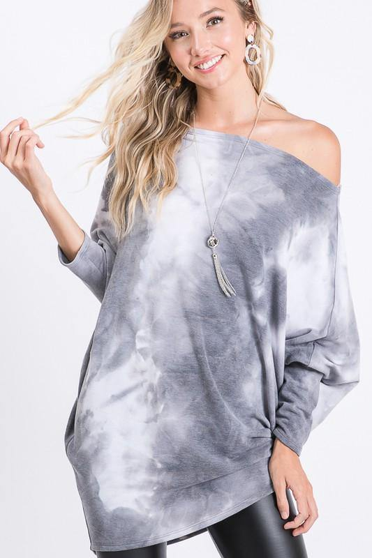 Premium Quality Hacci Top with Dolman Sleeves - Classy Cozy Cool - Tops -  Hemish - Dolman Sleeve, Featured, Hacci Top, Lounge, Loungewear, made in usa, oversized, Plus, soft, Spring, tie dye