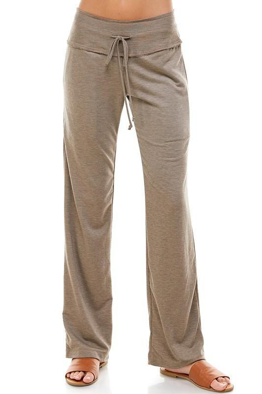 PREMIUM FULL LENGTH SOLID FRENCH TERRY FLARE PANTS