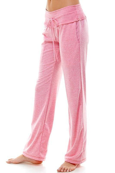 Boot Cut Traveler's Drawstring Pants | Pink -  Loving People - Drawstring, Featured, Lounge, Loungewear, Made in America, made in usa, Pink, soft, Spring, Travel Pants, vacation, Wardrobe Essentials, Women's Clothing - Classy Cozy Cool